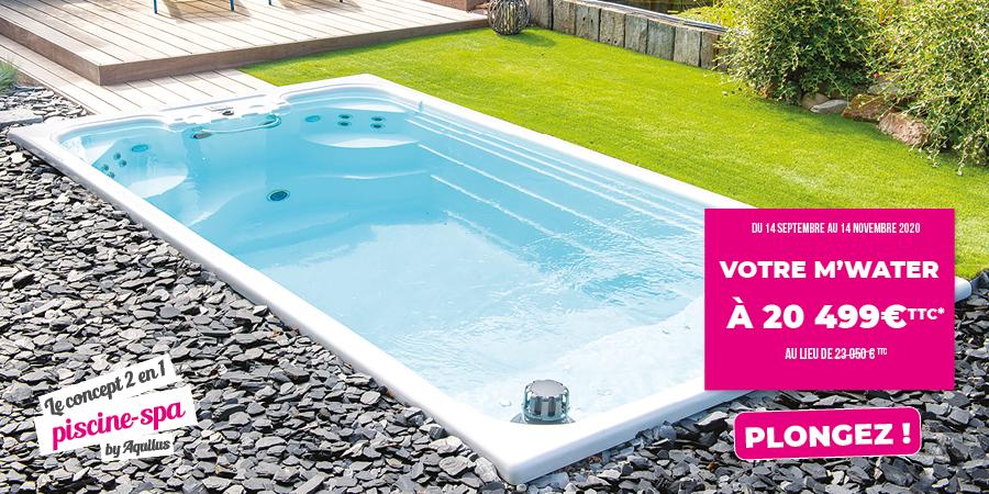 Offre promo sur le concept mi-piscine mi-spa d'Aquilus