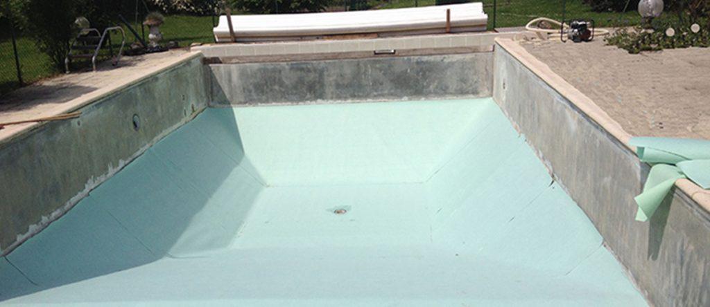 rénovation partielle de piscine : changement d'un liner